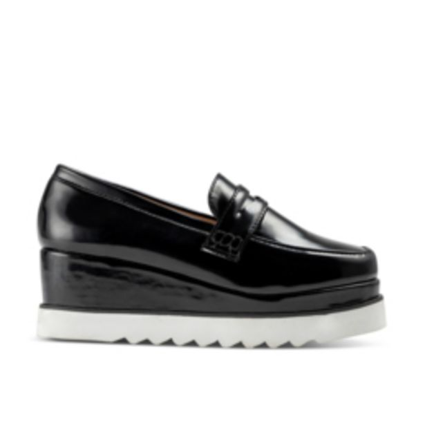 Women's Black Man Style Wedge Shoe offers at R 149,99