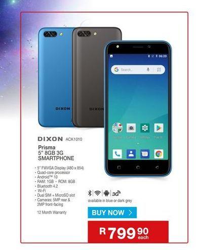 Smartphones Dixon offers at R 799,9