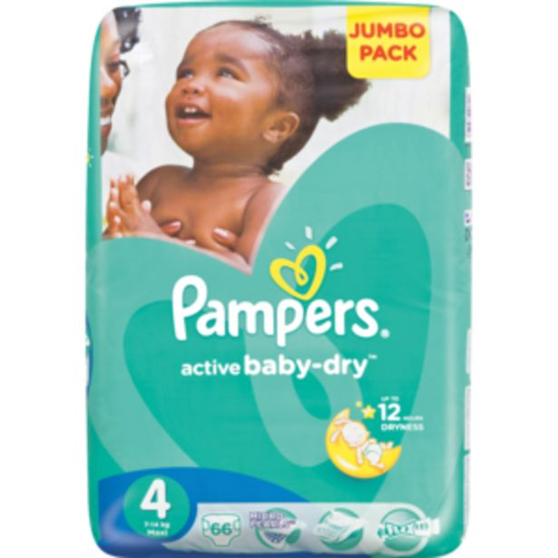 Pampers Active Maxi Baby-Dry Nappies 66 Pack offers at R 264,99