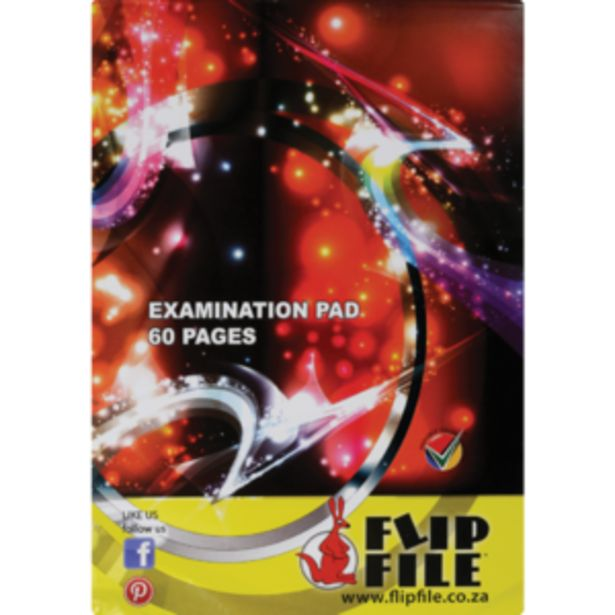 Flip File A4 Exam Pad 60 Page offers at R 9,99
