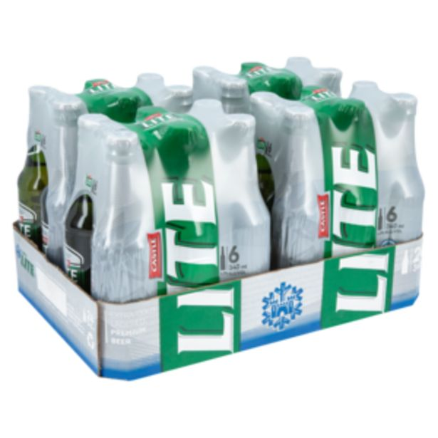 Castle Lite Premium Beer 24 x 340ml offers at R 219,99