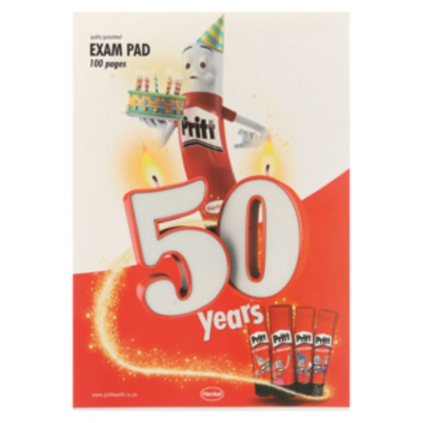 A4 Exam Pad 100 Page offers at R 14,99
