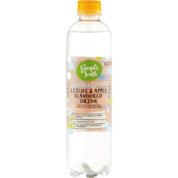 Simple Truth Litchi & Apple Flavoured Sparkling Water 500ml offers at R 8,99
