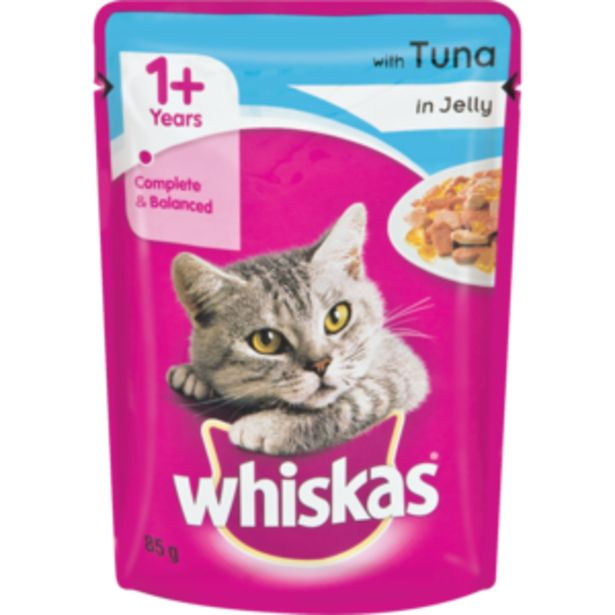 Whiskas Tuna In Jelly Cat Food 85g offers at R 9,29