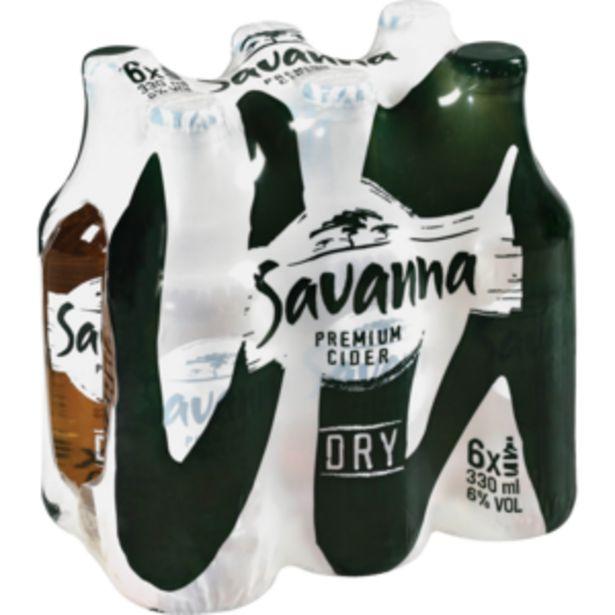 Savanna Dry Cider Bottles 6 x 330ml offers at R 89,99