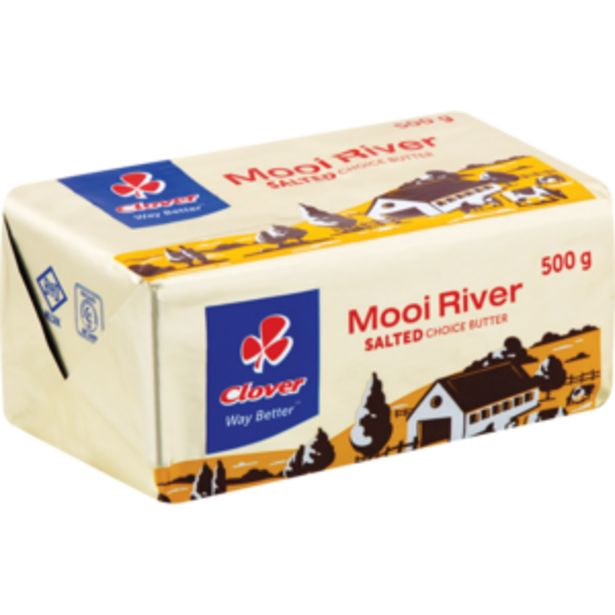 Clover Mooi Rivier Salted Butter Brick 500g offers at R 79,99