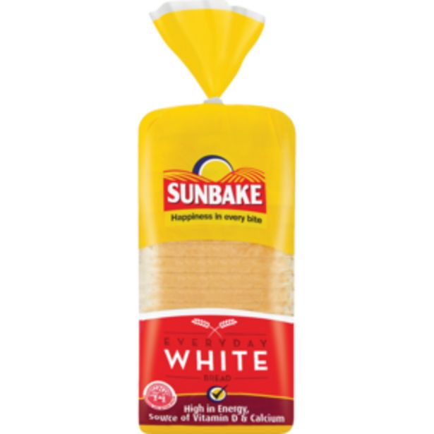 Sunbake Everyday White Bread 700g offers at R 13,49