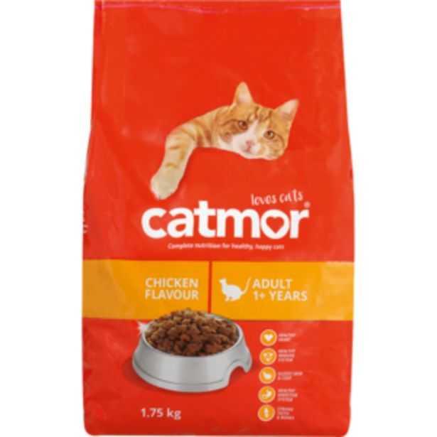 Catmor Chicken Flavoured Dry Cat Food 1.75kg offers at R 59,99