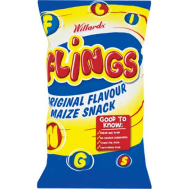 Willards Flings Original Flavour Maize Snack 150g offers at R 14,99