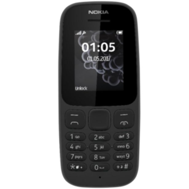 Nokia 105 Black Mobile Phone offers at R 279