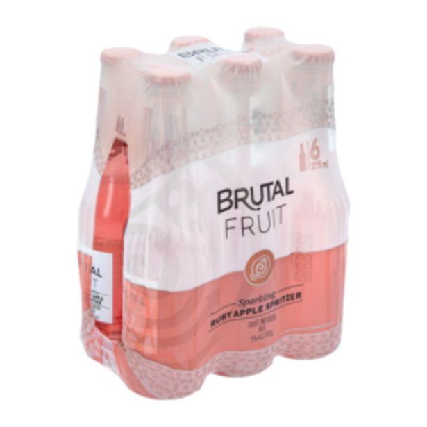 Brutal Fruit Sparkling Ruby Apple Flavoured Spritzer 6 x 275ml offers at R 69,99