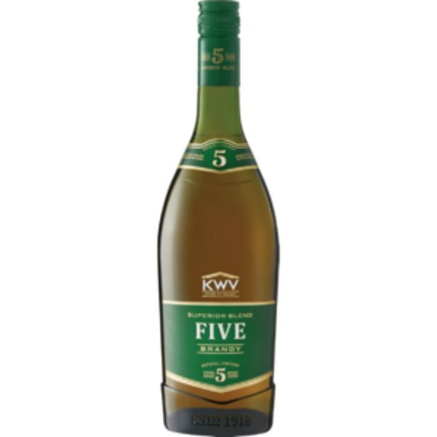 KWV 5 Year Old Brandy Bottle 750ml offers at R 169,99