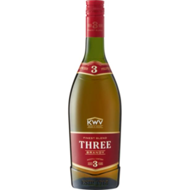 KWV 3 Year Old Brandy Bottle 750ml offers at R 144,99