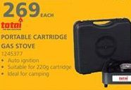 Portable cartridge stove offers at R 269