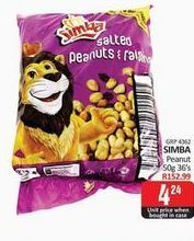 Simba Peanuts  offers at R 4,24