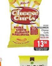 Willards Cheese Curls  offers at R 13,56