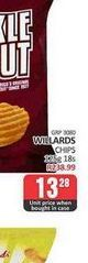Willards Chips offers at R 13,28