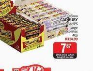 Cadbury Chocolate Slabs  offers at R 7,87