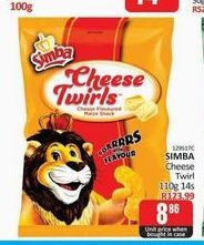 Simba Cheese Twirls offers at R 8,86