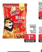 Simba Bits offers at R 1,43