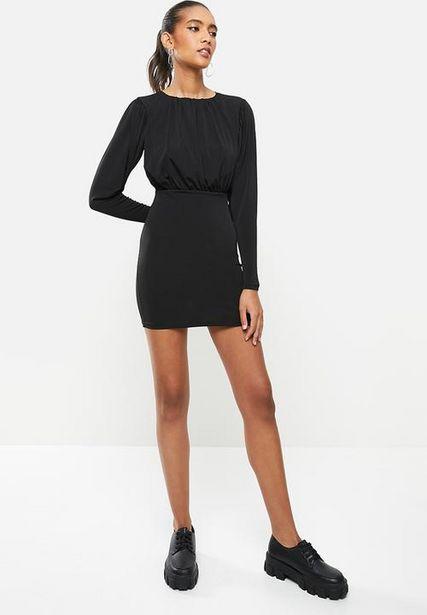 Blouson mini dress - black offers at R 225