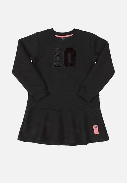 Girls quilted dress - black offers at R 269