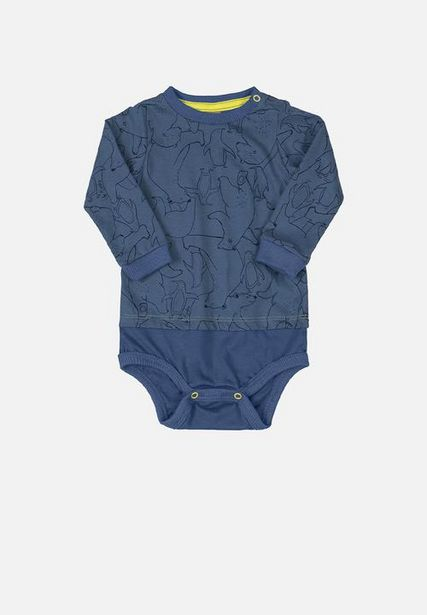 Baby boys printed babygrow - blue offers at R 134