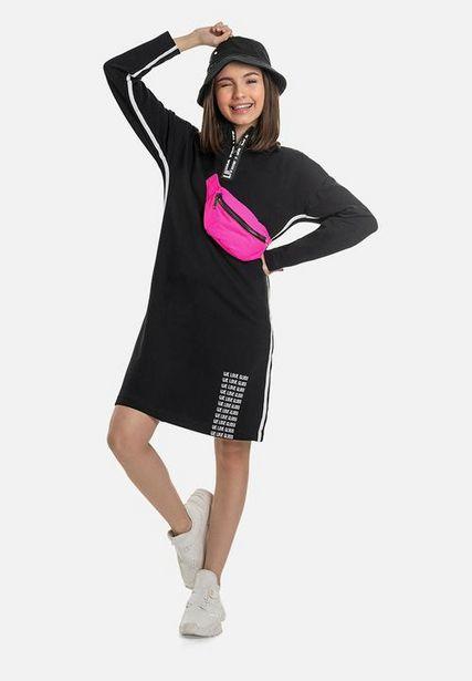 Girls elastane sweat dress - black offers at R 269
