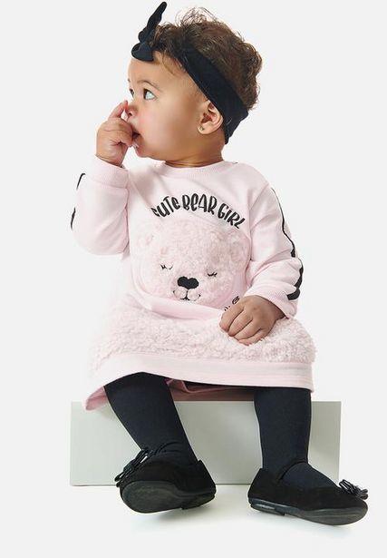Faux fur sweat dress - pink offers at R 215