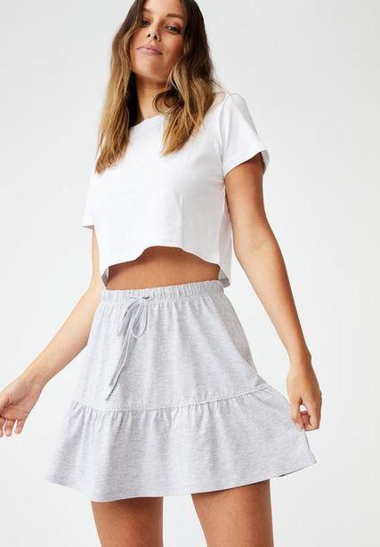 Tori tiered mini jersey skirt - grey  offers at R 179