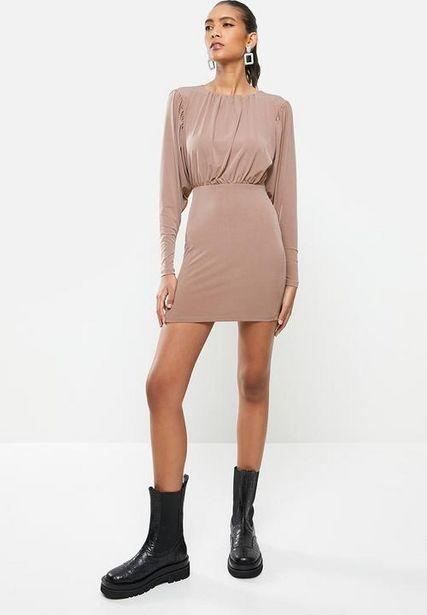 Blouson mini dress - brown  offers at R 225