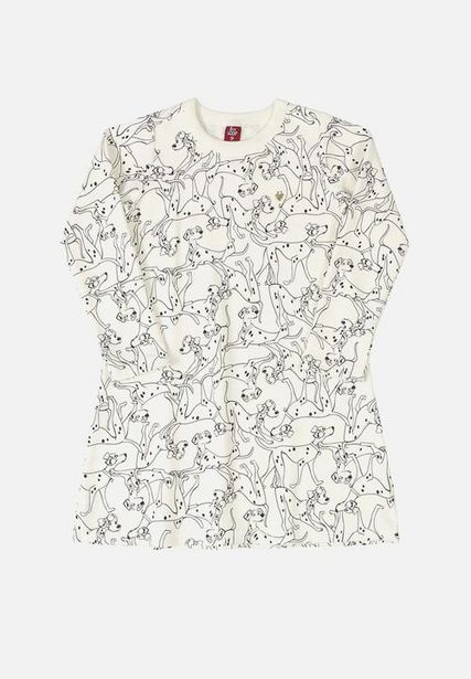 Girls puppy print dress - white offers at R 150