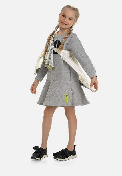 Girls quilted dress - grey offers at R 269