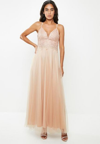 Lace cami maxi dress - neutral offers at R 719