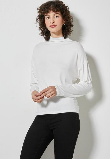Grown on neck easy fit tee - milk offers at R 125