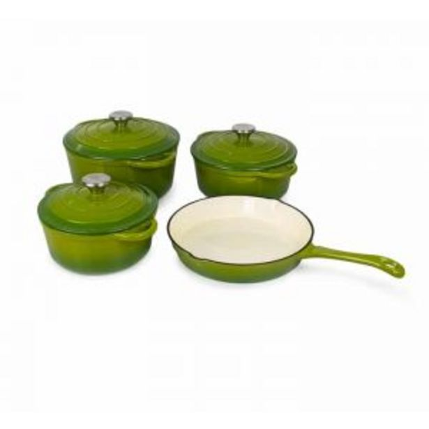 Luma Franc Cast Iron Pot set 7 Green offers at R 1499