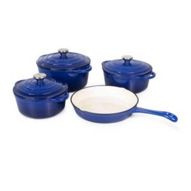 Luma Franc Cast Iron Pot set 7 Piece Blue offers at R 1499