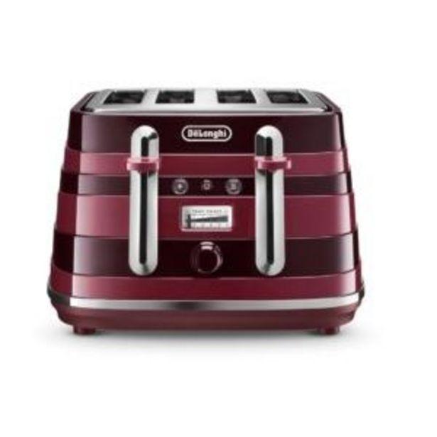 DeLonghi Avvolta Class 4 Slice Toaster C-red offers at R 2599