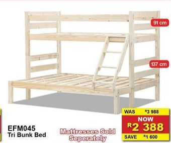 Tri bunk bed offers at R 2388