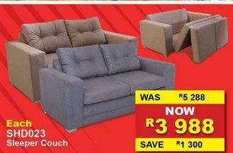 Sleeper couch offers at R 3988