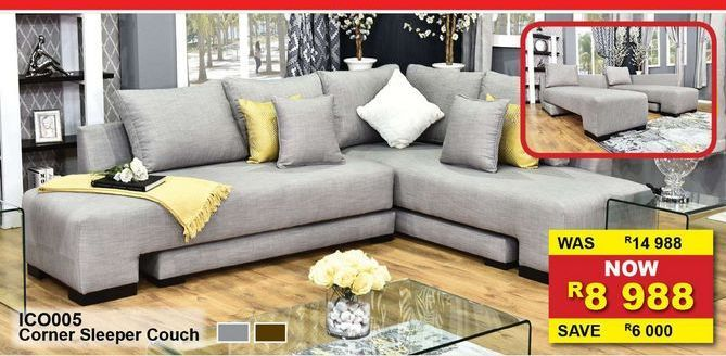 Corner Sleeper couch offers at R 8988