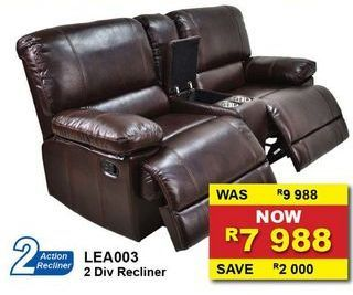 2 dIV RECLINER offers at R 7988