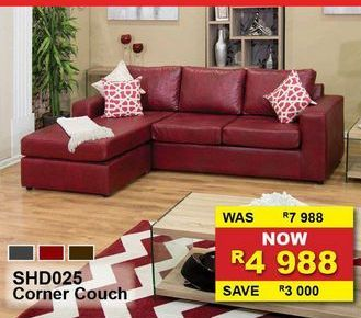Corner couch offers at R 4988