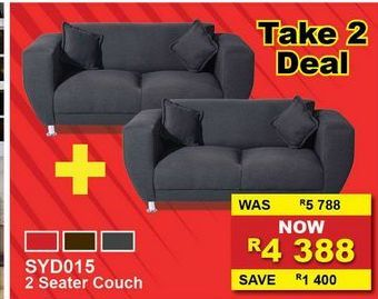 2 Seater couch offers at R 4388