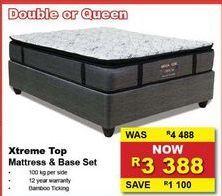 XTREME TOP Mattress & Base set offers at R 3388