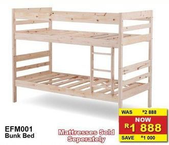 Bunk bed offers at R 1888