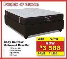 Body Contour Mattress & Base Set offers at R 3588