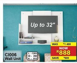 Wall Unit offers at R 888