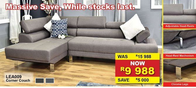 Corner couch offers at R 9988