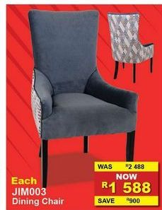 Dining chairs offers at R 1588